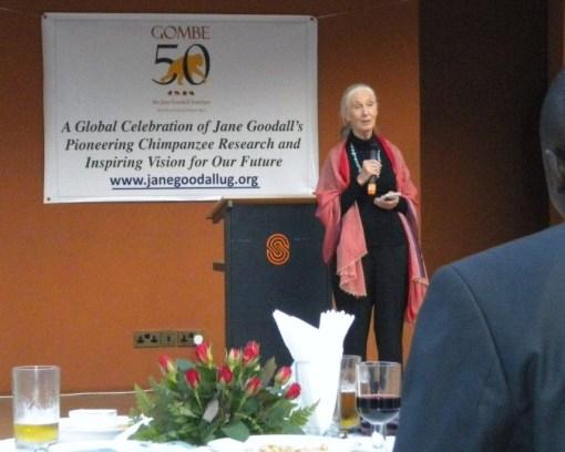 Dr. Goodall in Kampala