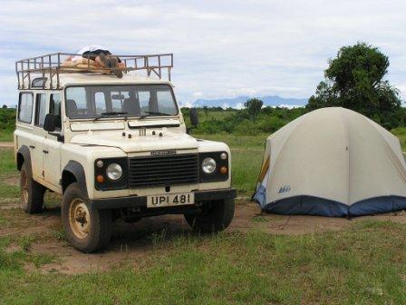 Camping at Mweya